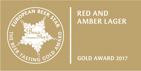 European Beer Star Gold Award 2017 Red and Amber Lager